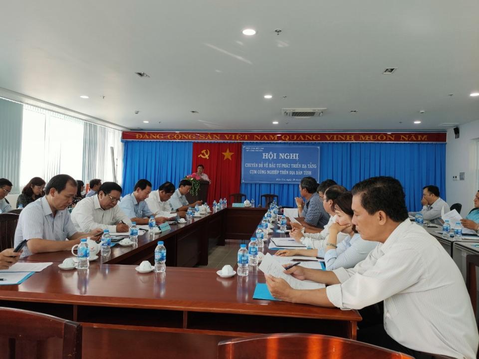 Hội nghị chuyên đề về đầu tư phát triển hạ tầng  cụm công nghiệp tỉnh Bến Tre