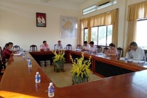 Sở Công thương làm việc về nội dung CCN tại huyện Ba Tri