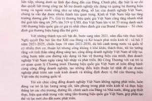 Tuần lễ Thương hiệu quốc gia Việt Nam 2021  chào mừng Ngày Thương hiệu Việt Nam 20/4
