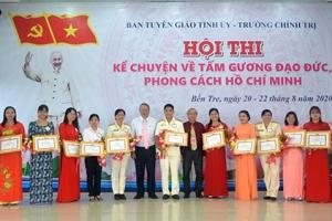Hội thi kể chuyện về tấm gương đạo đức, phong cách Hồ Chí Minh tỉnh Bến Tre năm 2020