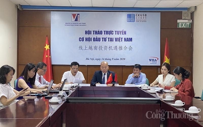 Giao thương trực tuyến giới thiệu cơ hội đầu tư tại Việt Nam tới doanh nghiệp Trung Quốc