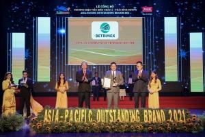 BETRIMEX nhận danh hiệu Thương hiệu tiêu biểu Châu Á – Thái Bình Dương 2021
