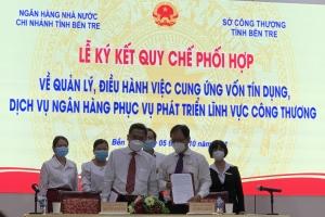 Sở Công Thương và Ngân hàng Nhà nước Việt Nam Chi nhánh tỉnh Bến Tre ký kết Quy chế phối hợp