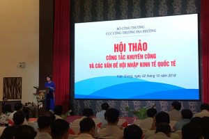 Khuyến công Bến Tre tham dự Hội thảo công tác khuyến công và các vấn đề hội nhập kinh tế quốc tế năm 2018